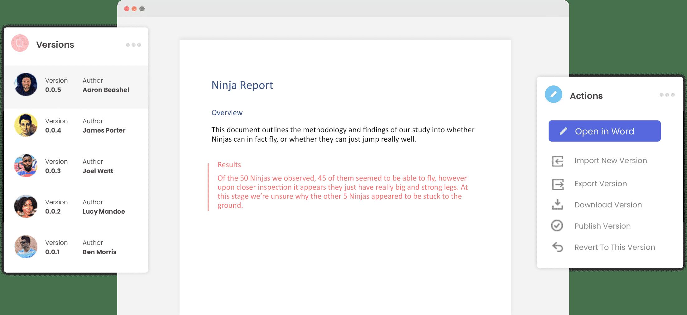 Version Control Microsoft Word Hero